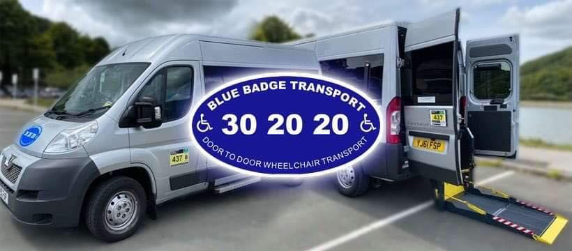 Also find us on Facebook and Instagram @BlueBadgeTransport
